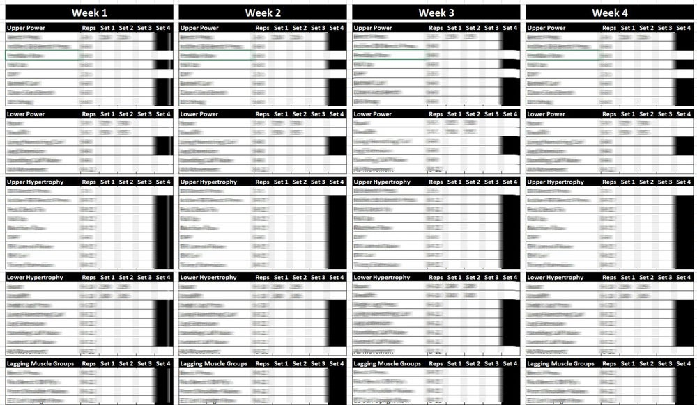 custom created training workout logs stephen do fitness
