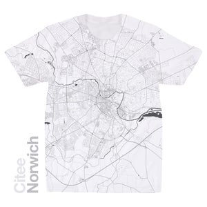 Image of Norwich map t-shirt
