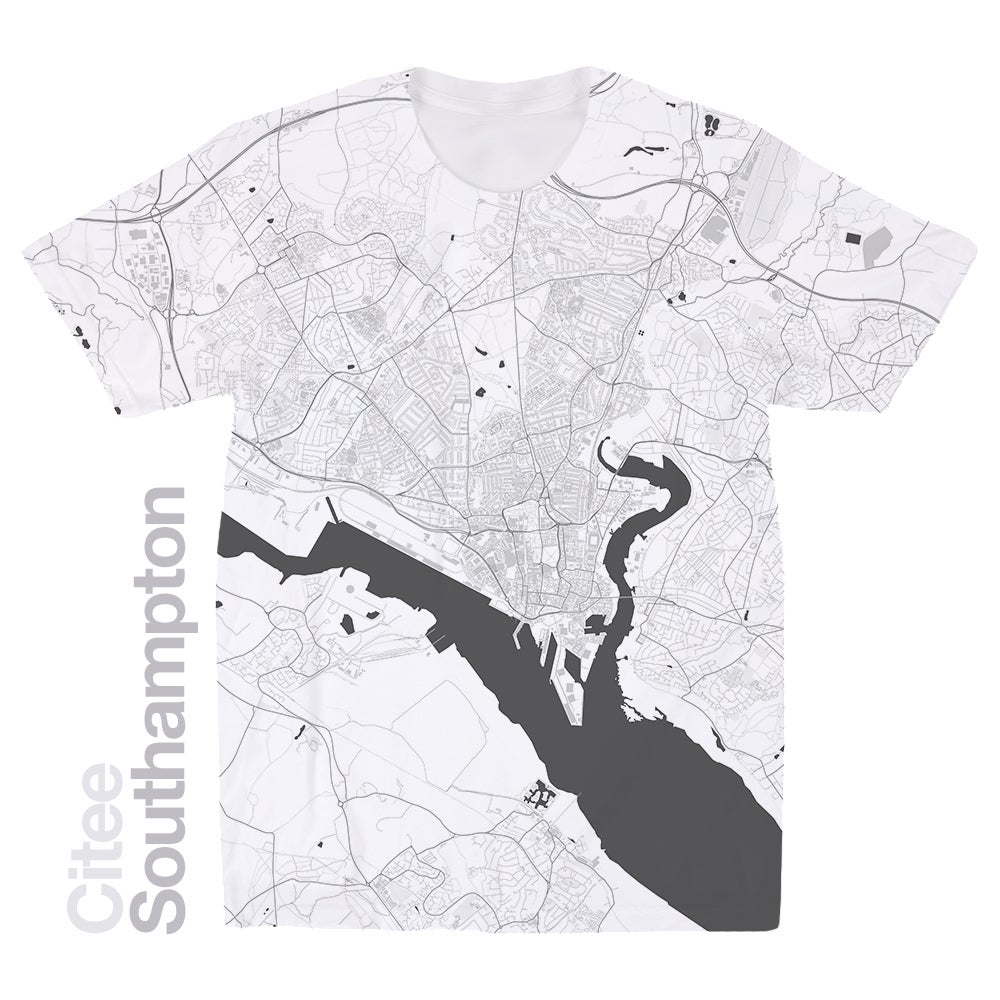 Image of Southampton map t-shirt