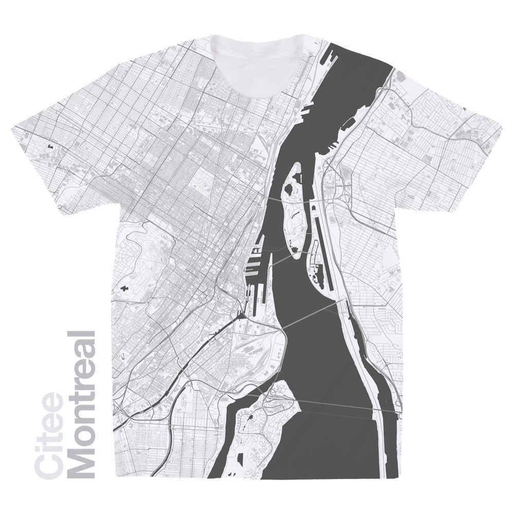 Image of Montreal map t-shirt