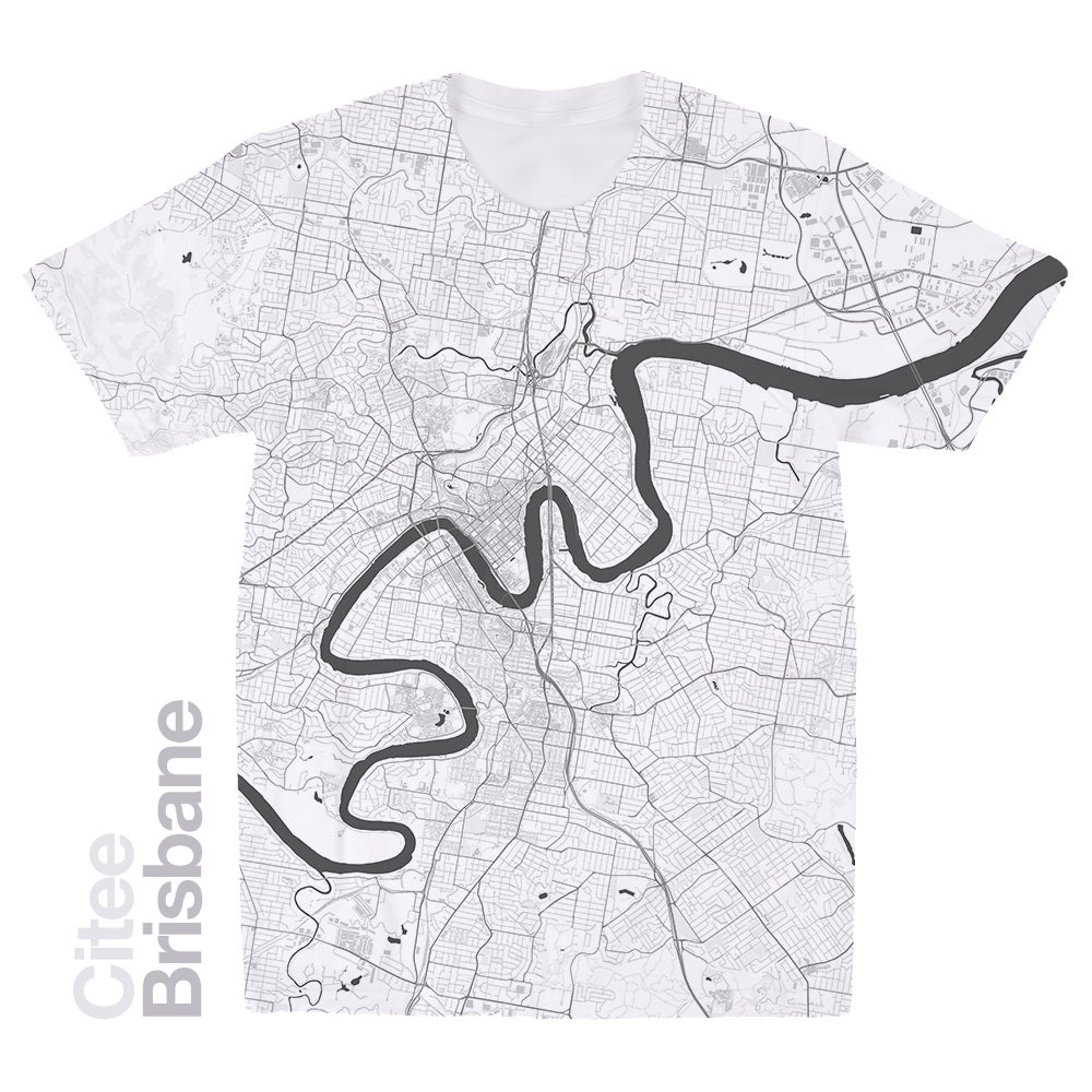 Image of Brisbane map t-shirt