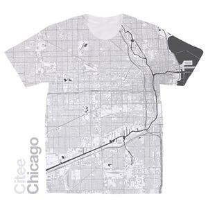 Image of Chicago IL map t-shirt