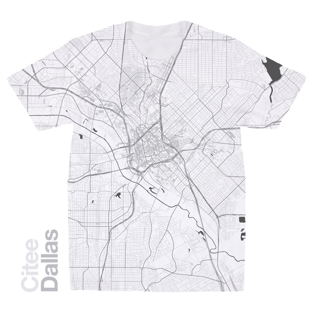 Image of Dallas TX map t-shirt