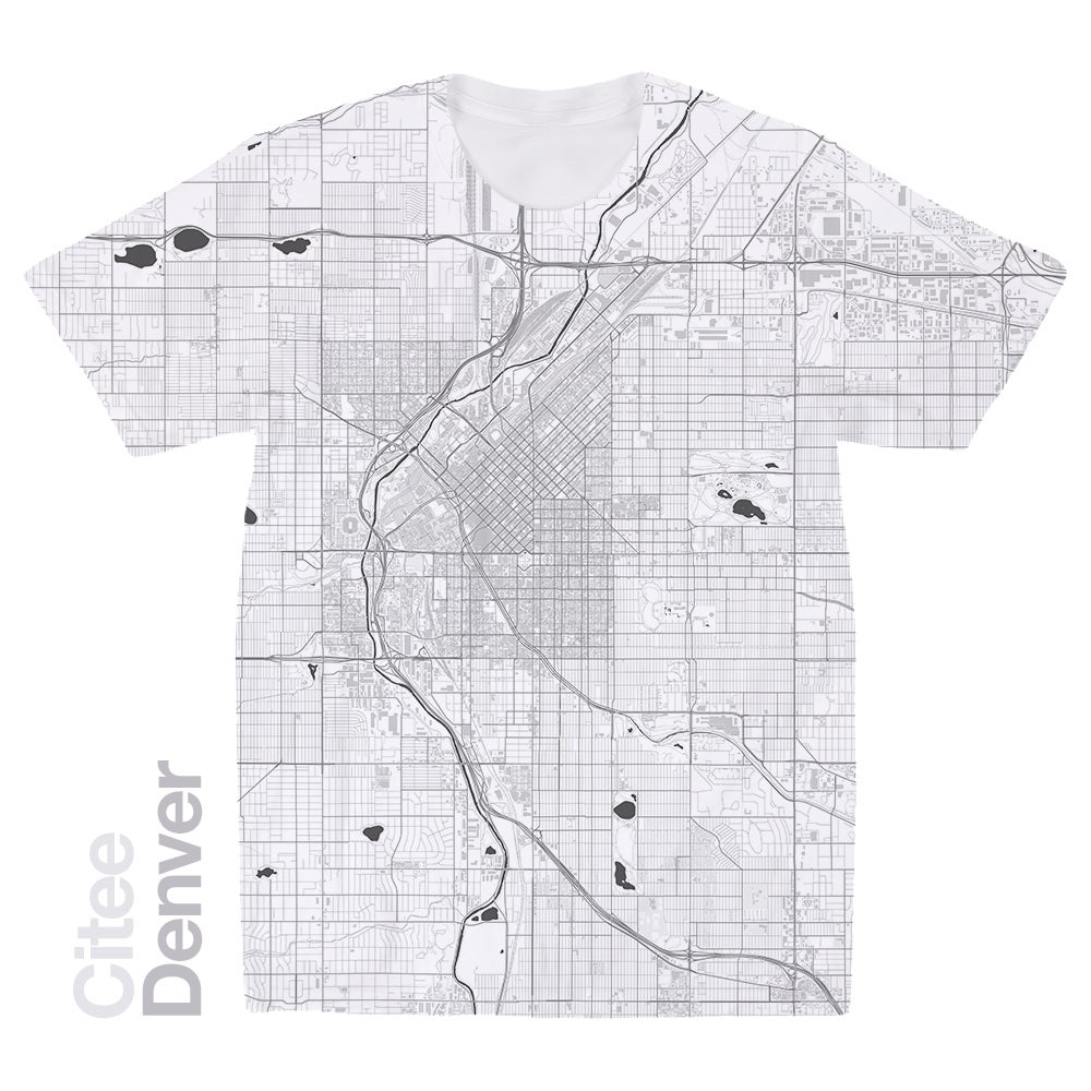 Image of Denver CO map t-shirt