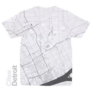 Image of Detroit MI map t-shirt