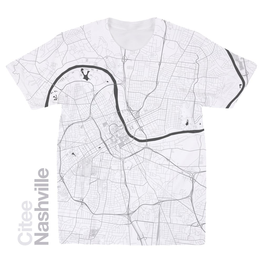 Image of Nashville TN map t-shirt