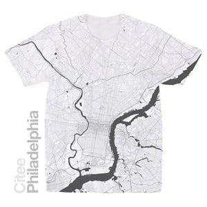 Image of Philadelphia PA map t-shirt
