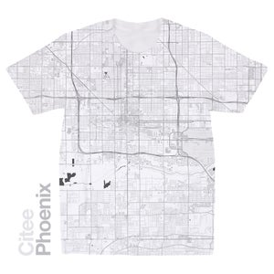 Image of Phoenix AZ map t-shirt