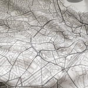 Image of San Francisco CA map t-shirt