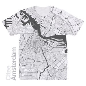 Image of Amsterdam map t-shirt
