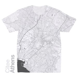 Image of Athens map t-shirt