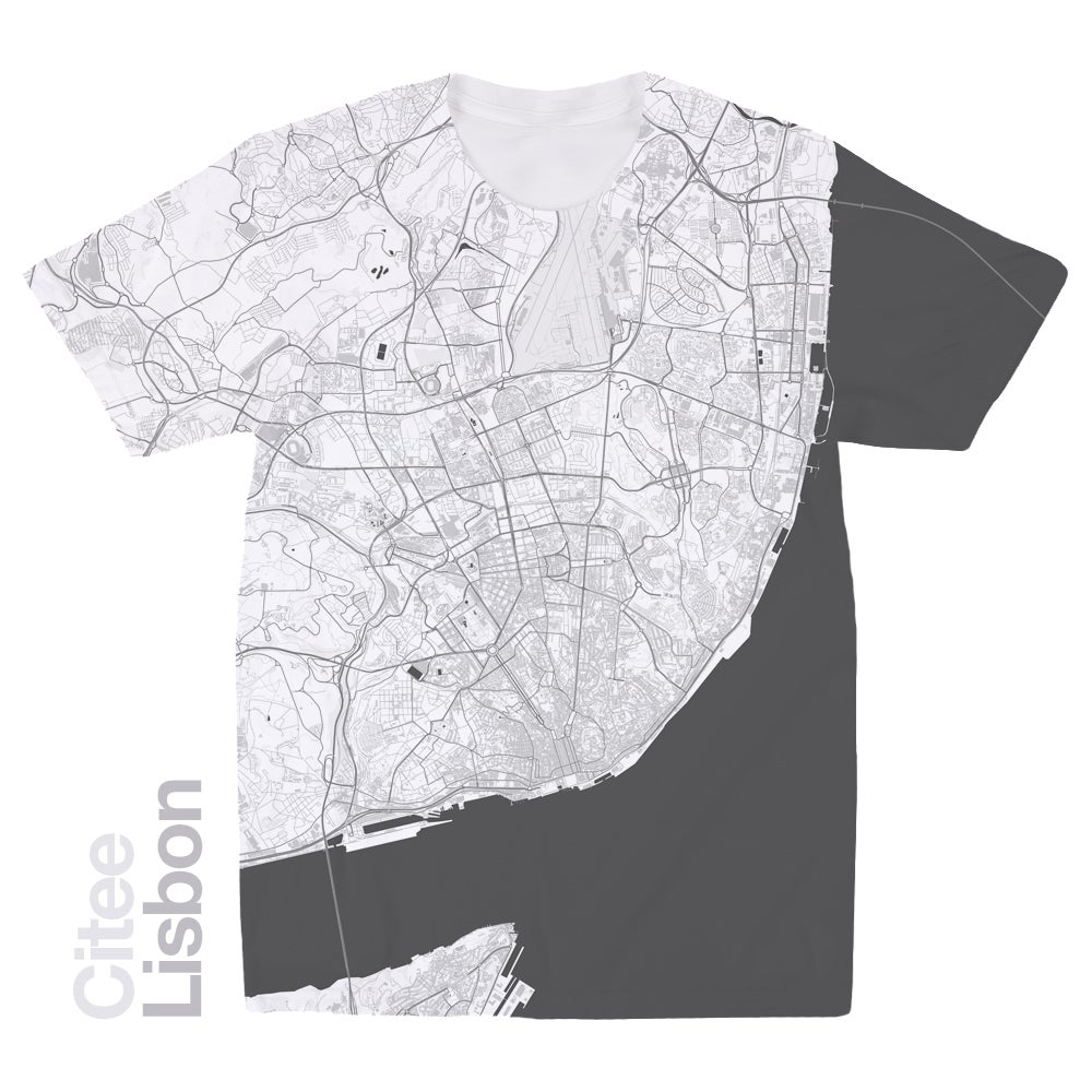 Image of Lisbon map t-shirt