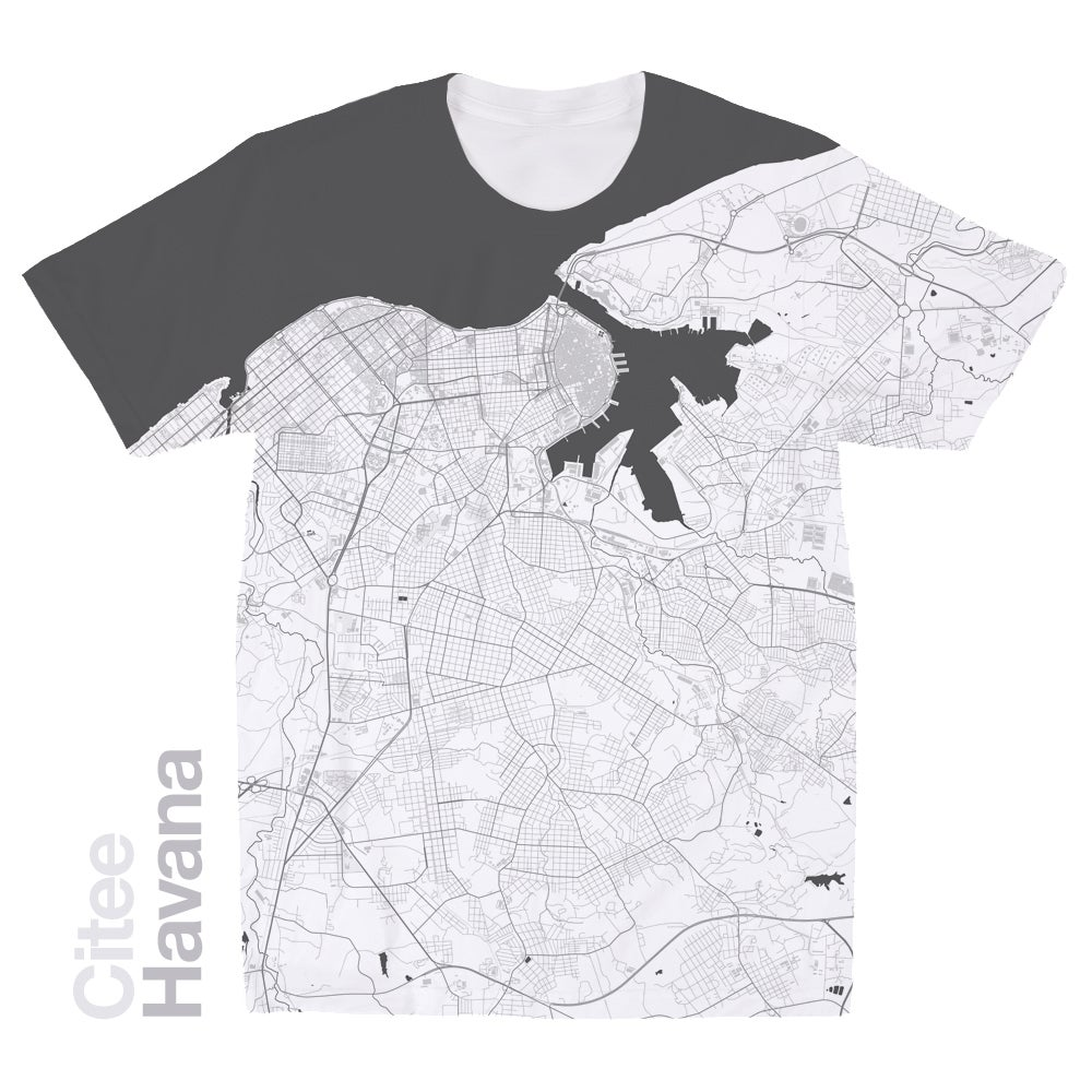 Image of Havana map t-shirt
