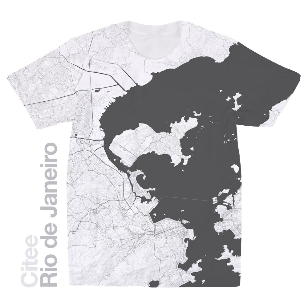 Image of Rio de Janeiro map t-shirt