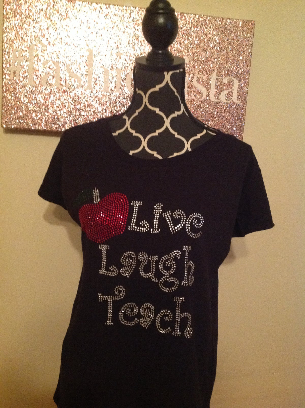 "Image of ""Sparkling"" Live Laugh Read/Teach"