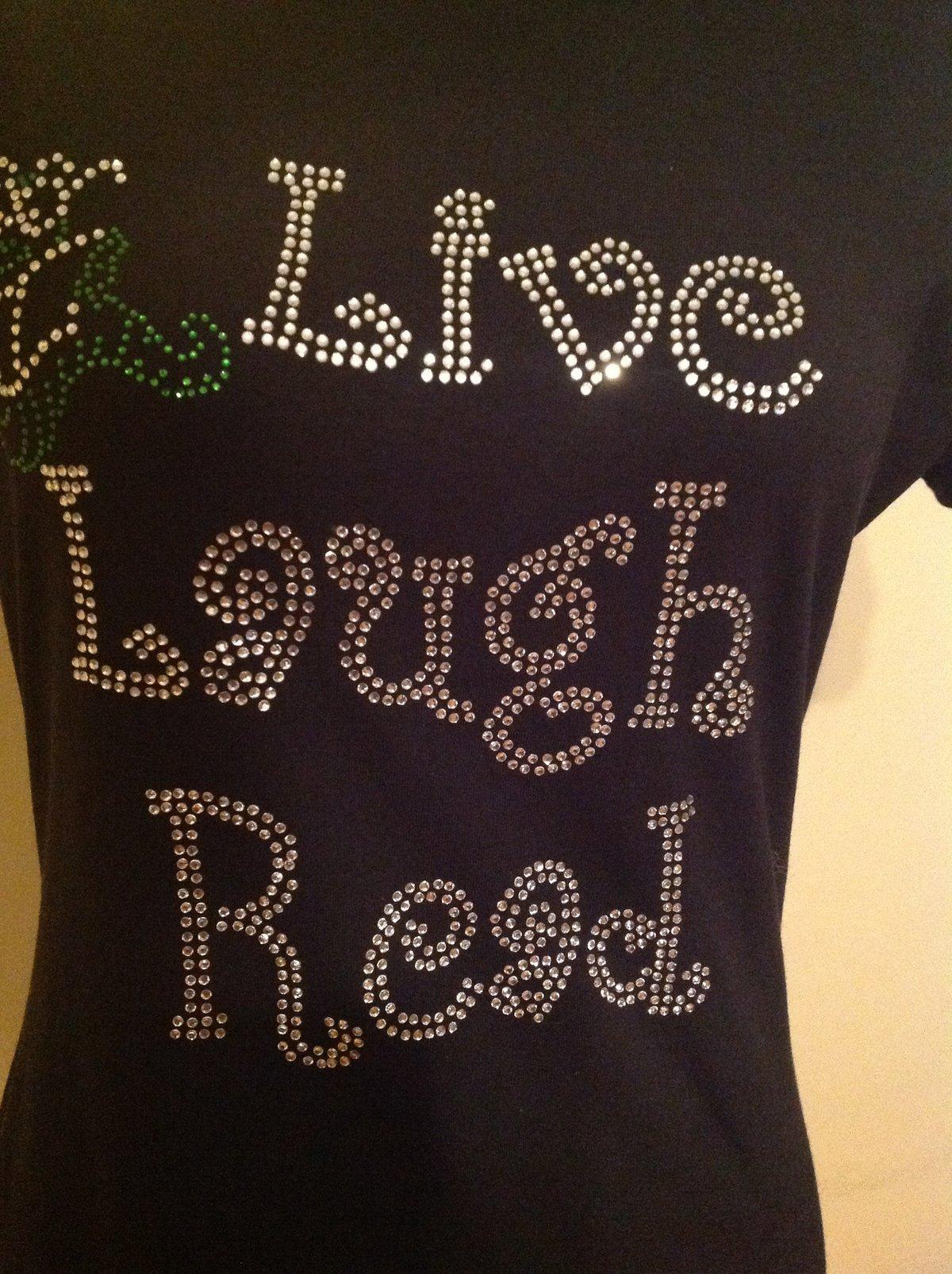 "Image of ""Sparkling"" Live Laugh Read/Teach"