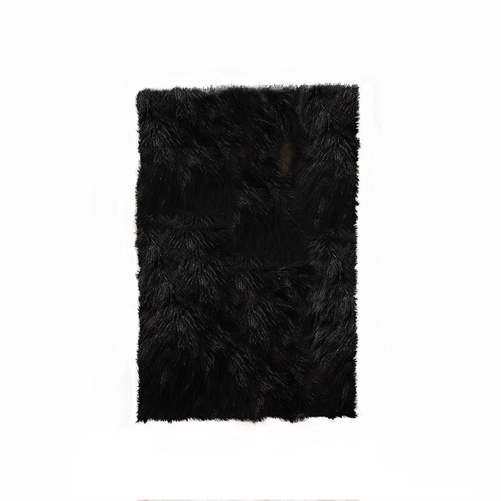 Image of Hudson Black Faux Sheepskin