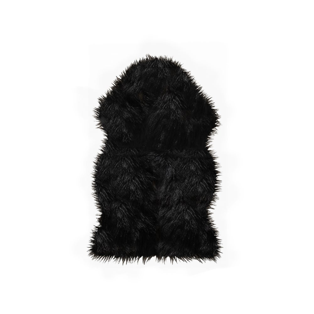 Image of Gordon Black Faux Sheepskin