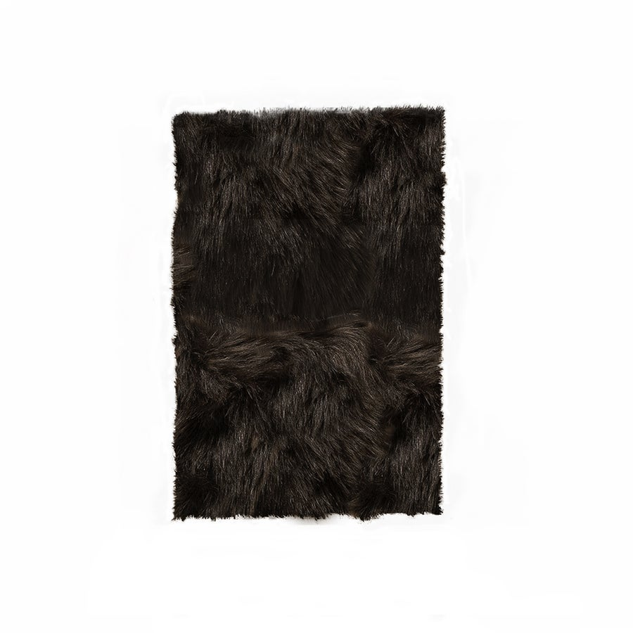 Image of Hudson Chocolate Faux Sheepskin