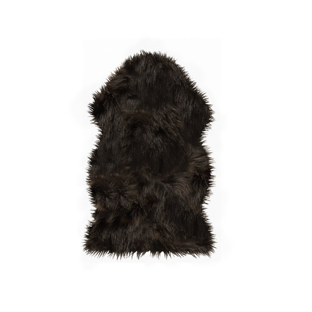 Image of Gordon Chocolate Faux Sheepskin