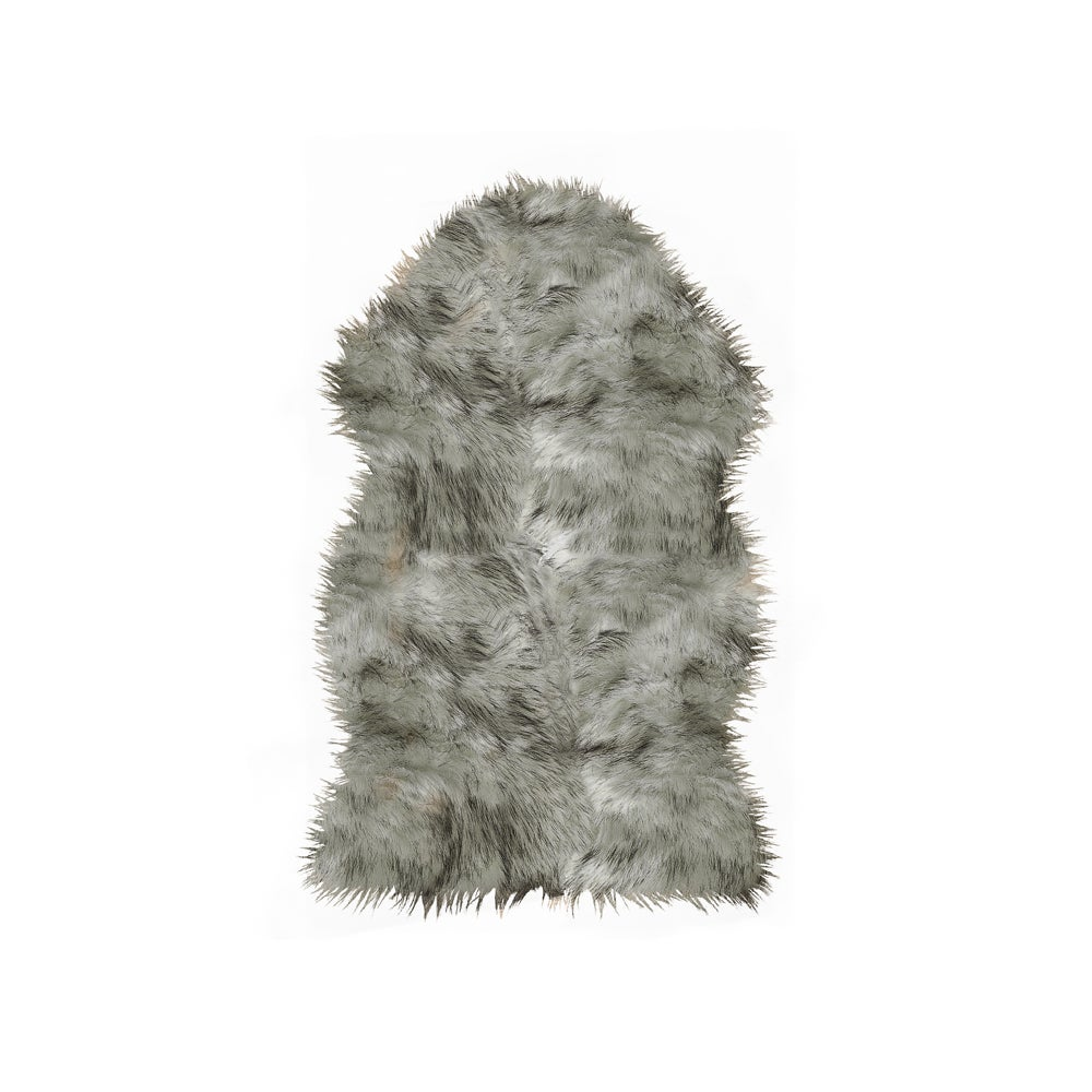 Image of Gordon Gradient Gray Faux Sheepskin