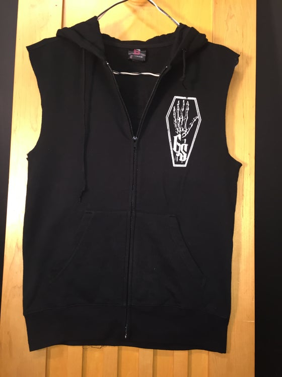 "Image of ""Moth"" Sleeveless Hoodie"