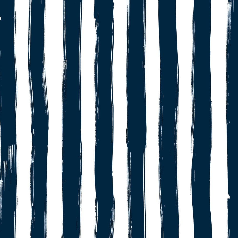 Image of Wide Stripes in dark blue