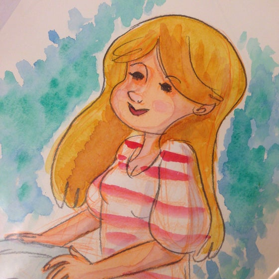 Image of Girl (watercolor painting)