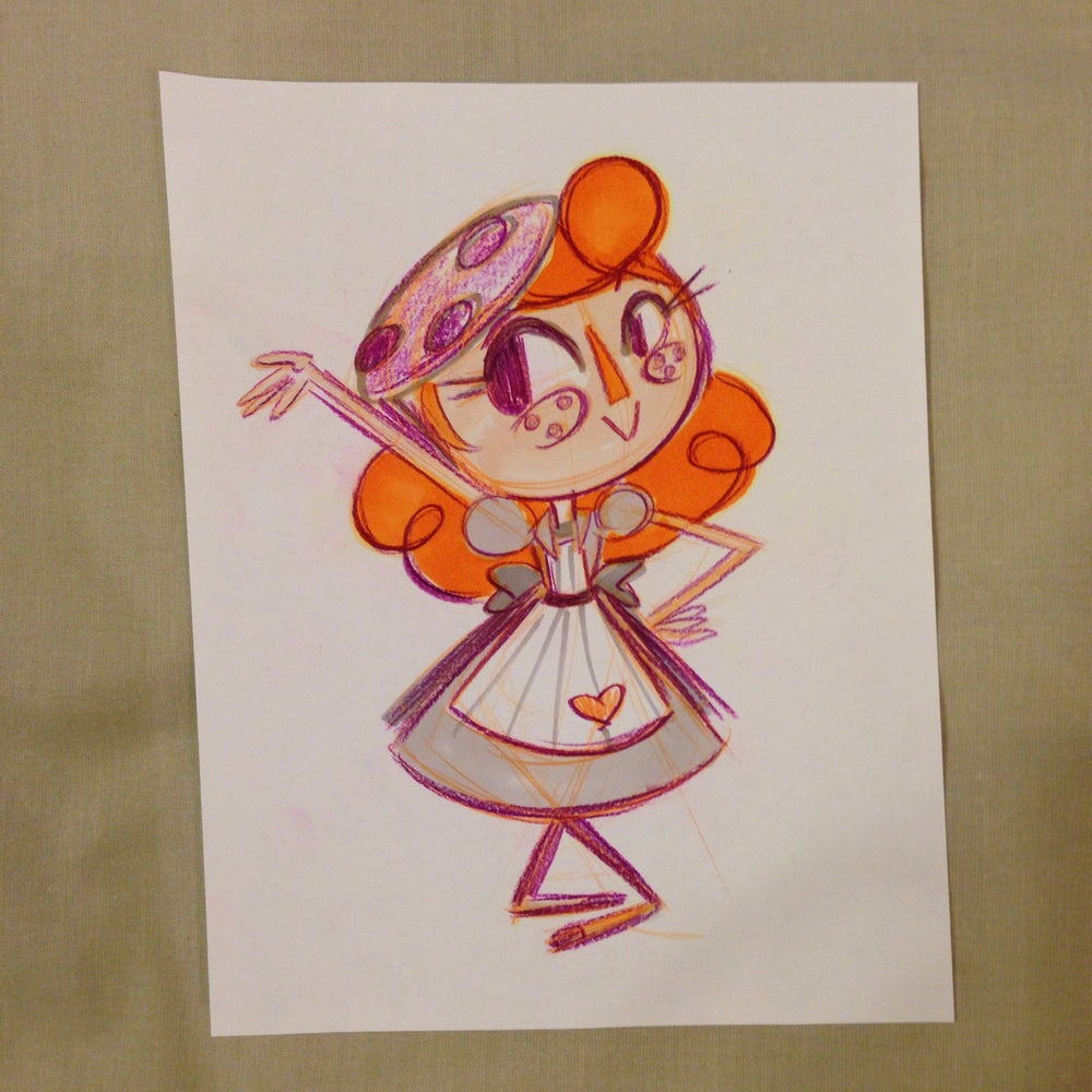 Image of Miss Cookie Character Concept Sketches (Lot of 3)