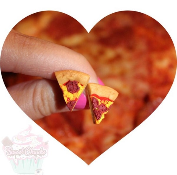 Image of Pizza Charm/ Earrings