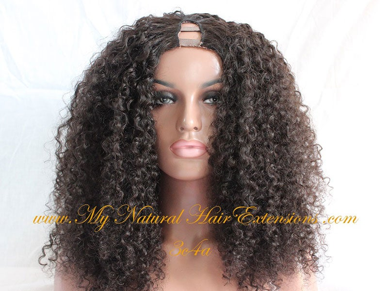 Image of Kinky Curly Wigs Cheap African American Natural Hair