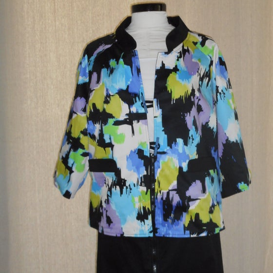 Image of Turquoise Print Reversible Jacket