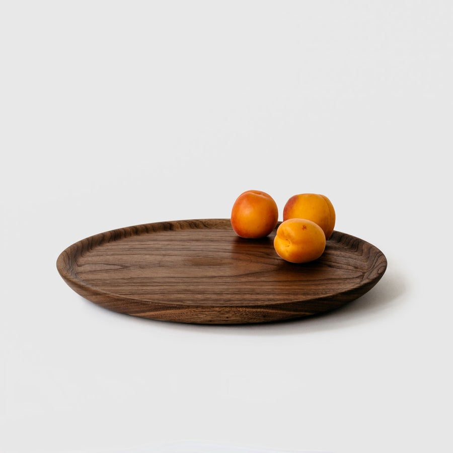 Image of Large Walnut Hardwood Plate