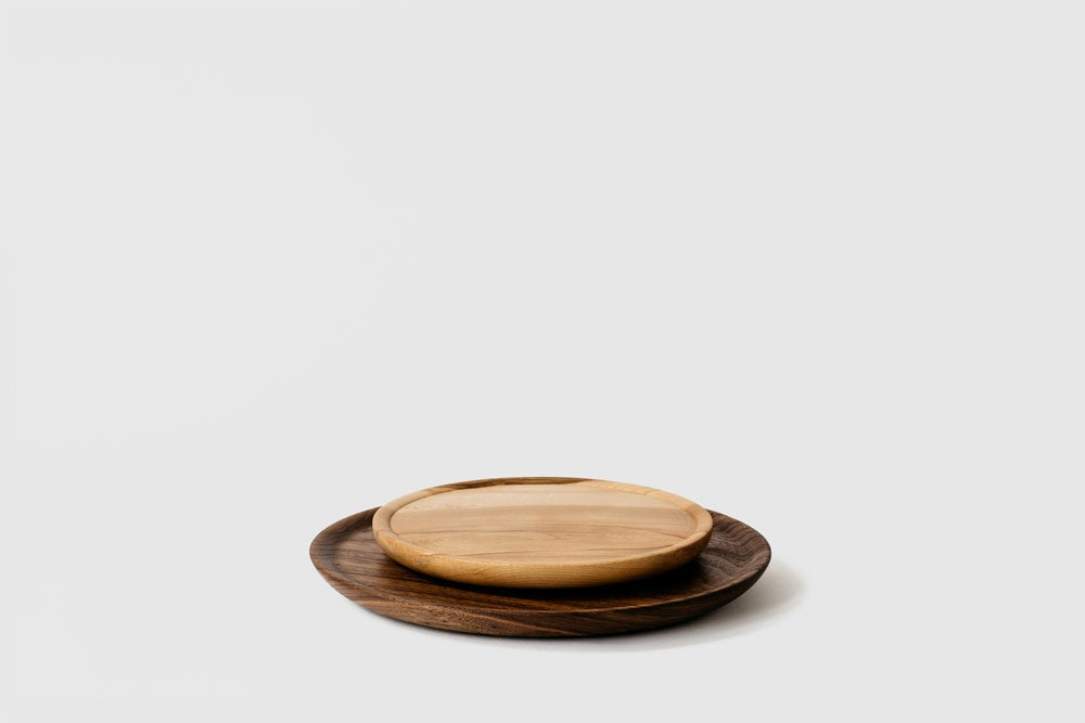 Image of Large Walnut Hardwood Plate