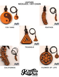Image of Keep On Collection – Leather Necklace/Keychains