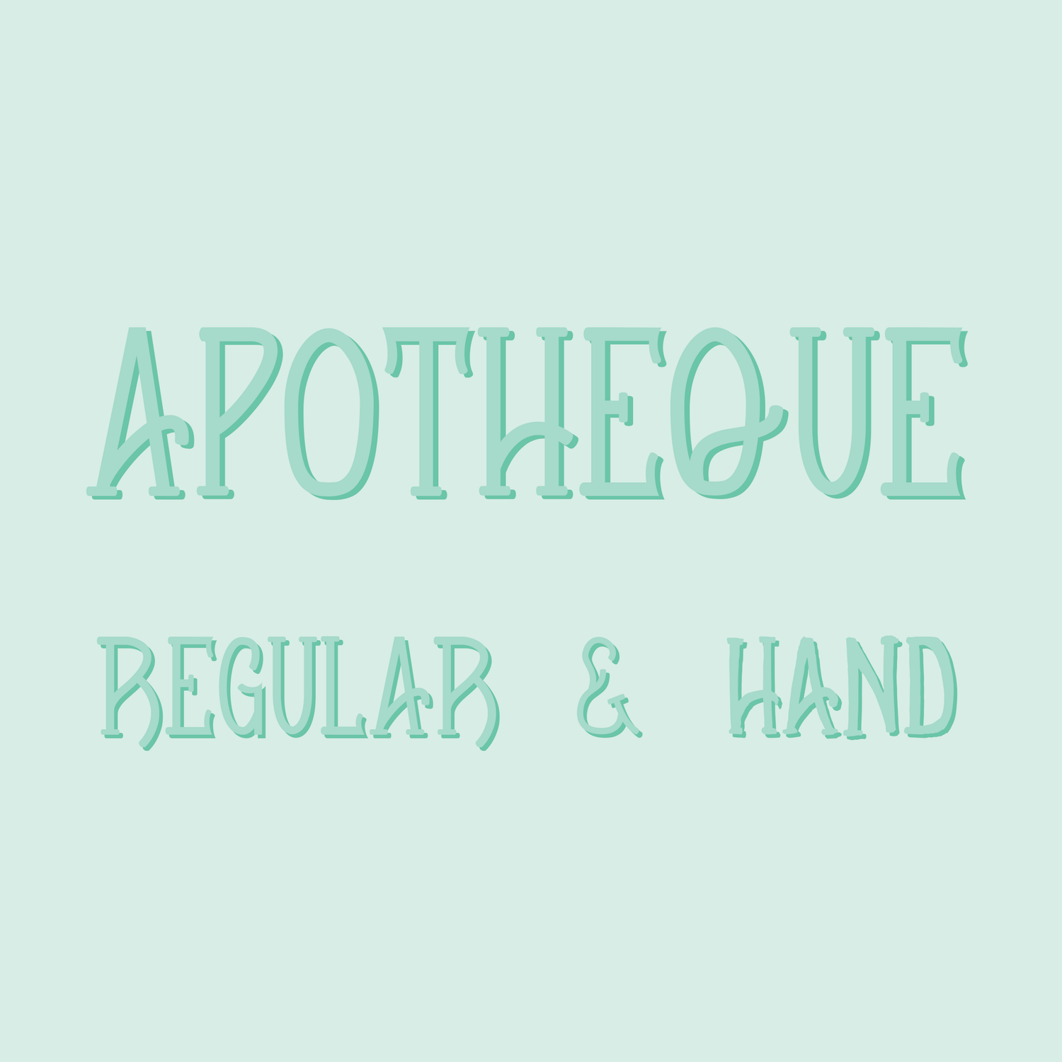 Image of Apotheque Font