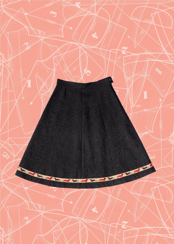 Image of Rambler Skirt: Dachshunds & Denim