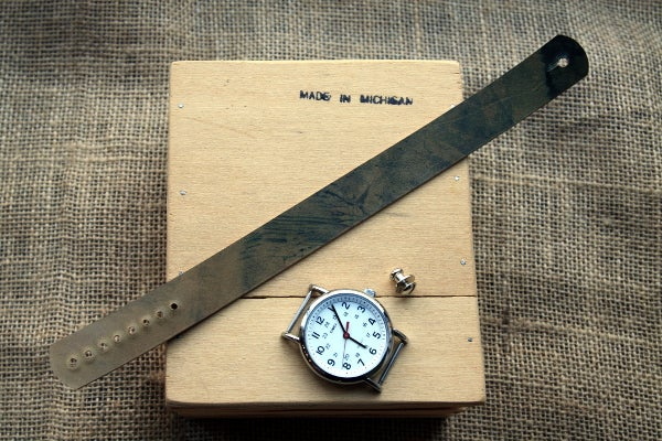 Image of Button Stud Watch Strap in Horween Shell Cordovan