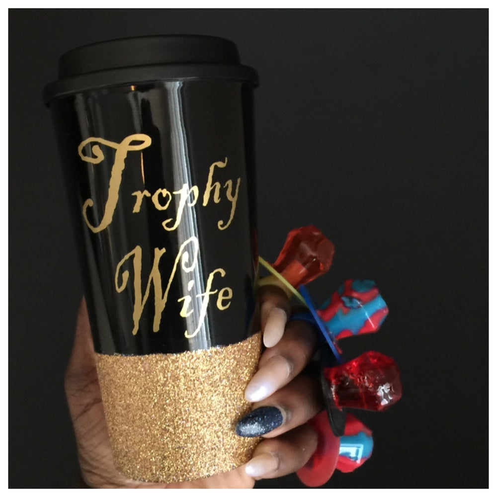 Image of Trophy Wife Glitter Tumbler