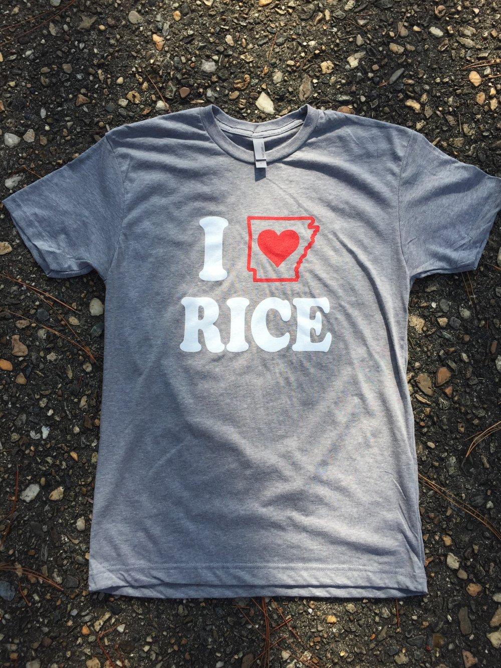 T-Shirt - I LOVE Arkansas Rice