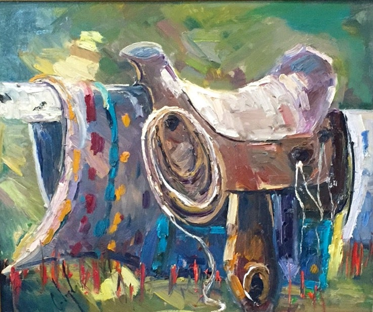 Image of Jack Iron's Saddle - 20x24