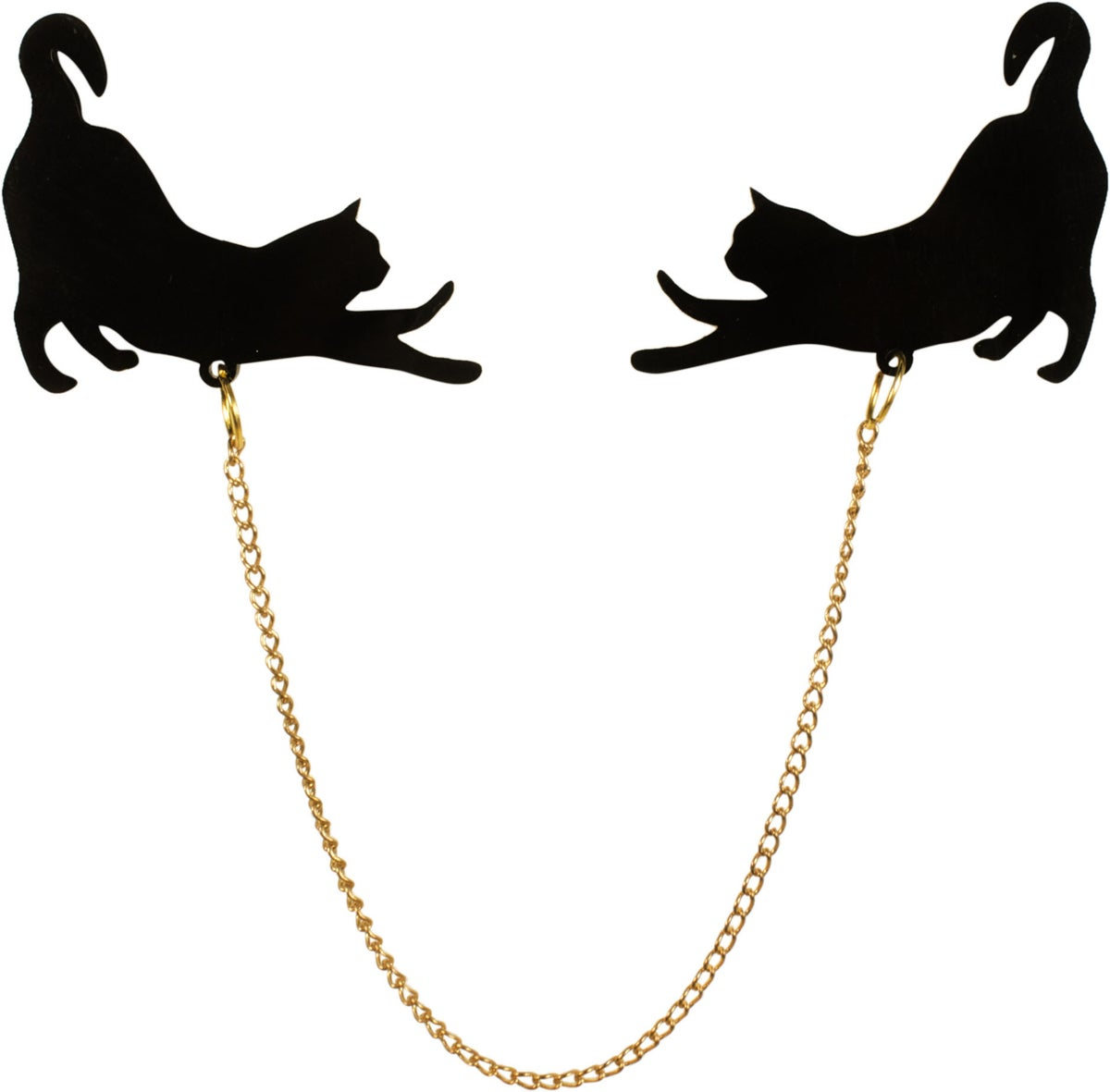 Image of Stretching Cat Silhouette Collar Pins