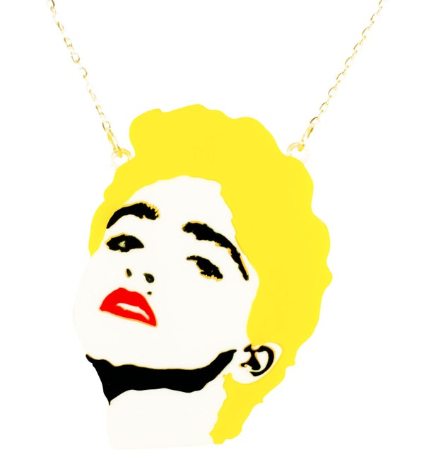 Madonna Necklace  - Black Heart Creatives