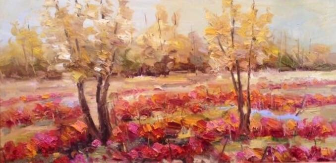 Image of Poppy Grove - 24x48