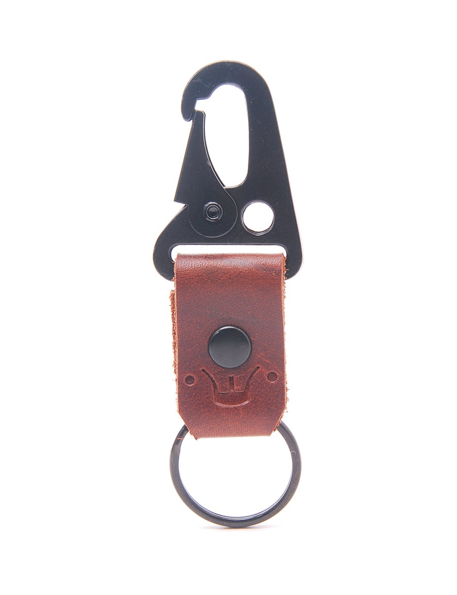 Image of Extra Mini Stoned Oil Leather HK Belt Clip Keychain Key Holder