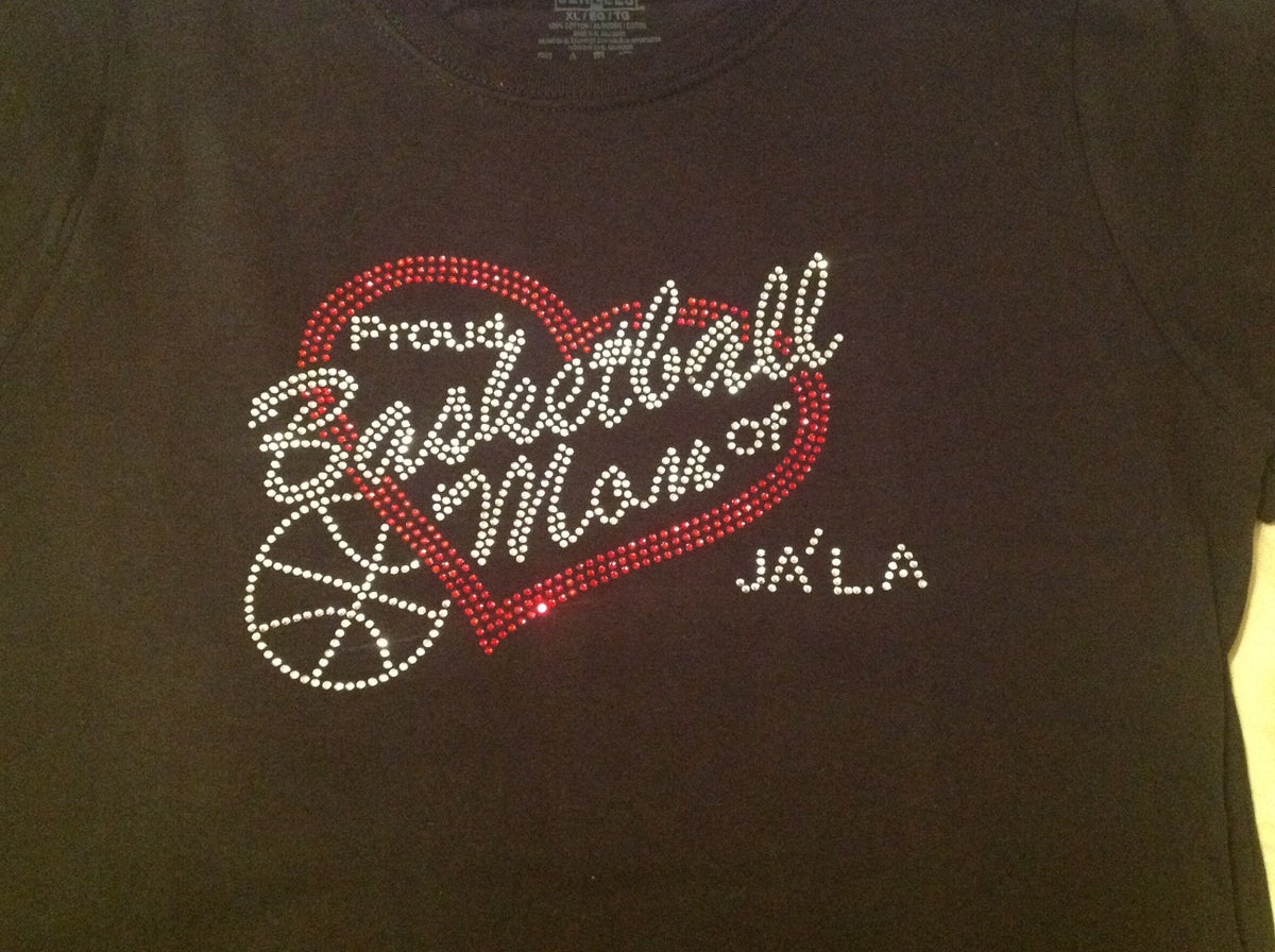 "Image of ""Sparkling"" Proud Basketball Mom of.."