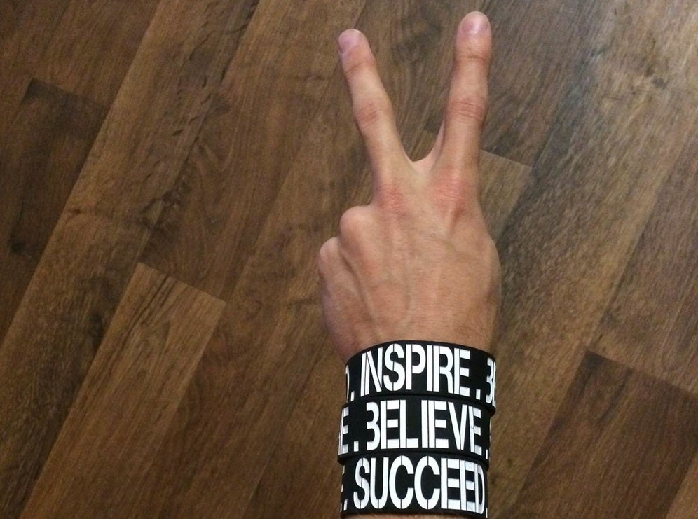 Image of INSPIRE.BELIEVE.SUCCEED. Wristband