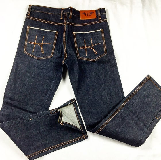Image of HotBread signature H raw denim jeans