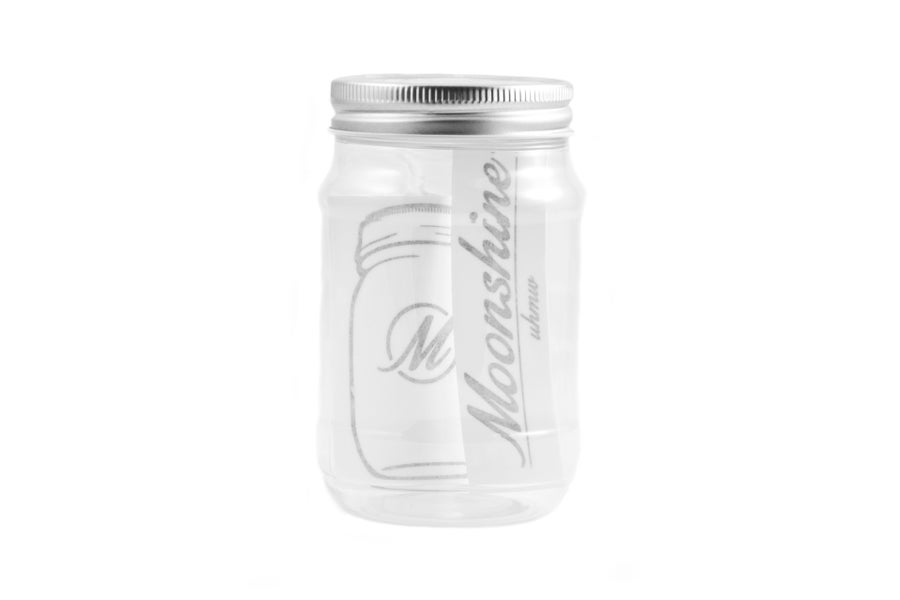 Image of Moonshine UHMW Plastic Mason Jar & Stickers Combo Pack