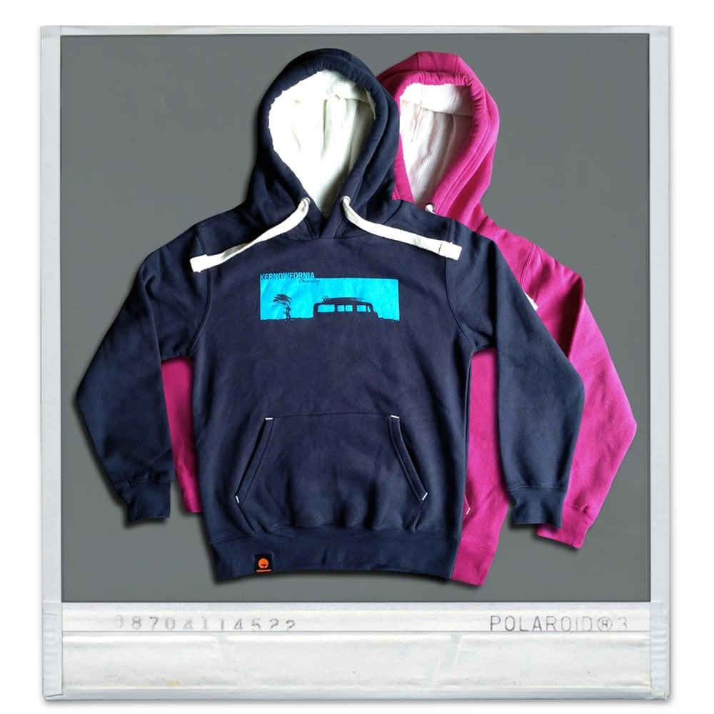 Image of Unisex - Campervan hoodie (navy, pink)